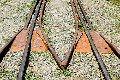 track funnel at viaduct entrance, guard rails, metric gauge, narrow gauge, noroeste argentino, rail bridge, railroad bridge, railroad tracks, railroad viaduct, railway tracks, rio toro, safety rails, single track, tren a las nubes, viaducto del toro