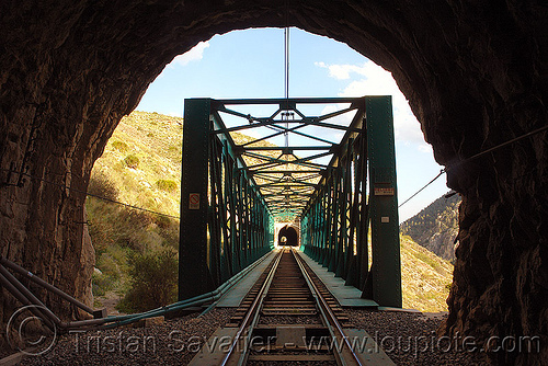 train tunnel and bridge, desfiladero de los gaitanes, el caminito del rey, el camino del rey, el chorro, infrastructure, metal, rail bridge, railroad bridge, railway, train tunnel, trespassing, truss bridge, urban exploration, urbex