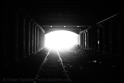 train tunnel - petite ceinture - abandoned underground railway (paris, france), paris, railroad tracks, railway tracks, railway tunnel, trespassing