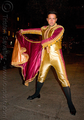 traje de luces - torero - bullfighter - halloween (san francisco), costume, la corrida, man, marcos monzon, matador, night, people, plazza de toros, toreador
