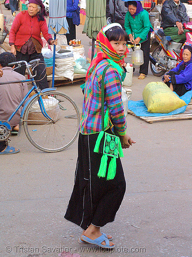 tribe girl - vietnam, girl, hill tribes, indigenous, lang sơn, street market