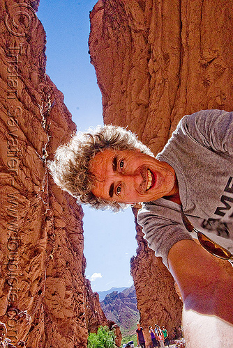 tristan savatier - quebrada de las conchas - cafayate (argentina), backlight, calchaquí valley, canyon, cliffs, man, noroeste argentino, quebrada de cafayate, quebrada de las conchas, rock, self portrait, selfie, tristan savatier, valles calchaquíes