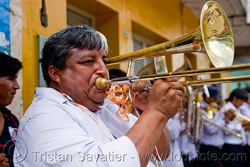 trombone player - carnival in jujuy capital (argentina), argentina, banda rey imperial, jujuy capital, man, marching band, noroeste argentino, san salvador de jujuy, trombone