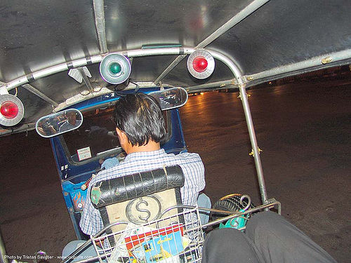 tuktuk in bangkok - thailand, auto rickshaw, bangkok, driver, night, public transportation, street, taxi, tuk-tuk, บางกอก, ประเทศไทย