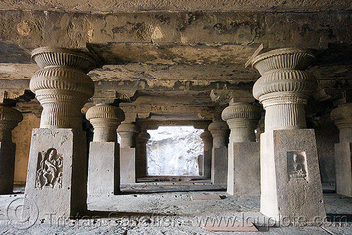 underground hindu and buddhist temples - ellora caves (india), ellora caves