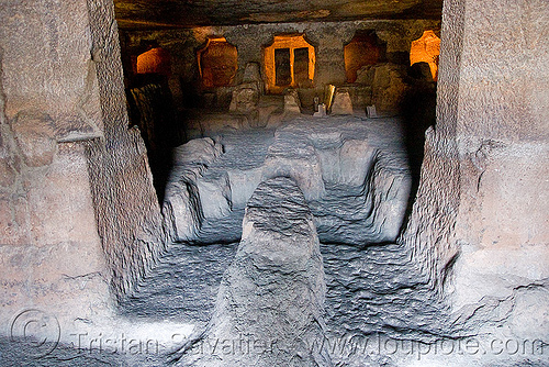 unfinished cave - ajanta caves - ancient buddhist temples (india), ajanta caves, buddhism, cave, india, rock-cut, unfinished