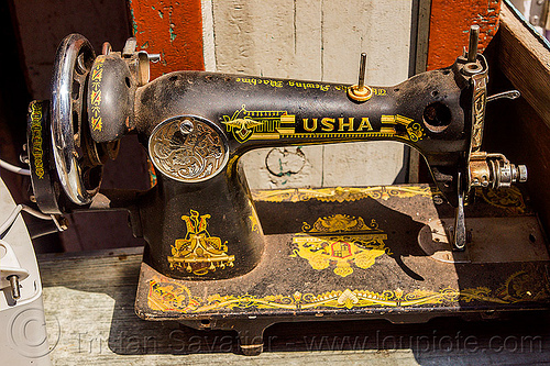 usha sewing machine (india), crank sewing machine, india, usha