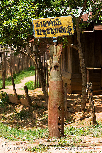 UXO - unexploded ordnance (bomb) - laos, unexploded bombs, unexploded ordnance, uxo, war