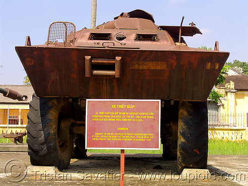 V-100 commando armored car - war - vietnam, american, armored car, armored vehicle, army museum, army tank, hué, military, rusted, rusty, v-100 commando, vietnam war