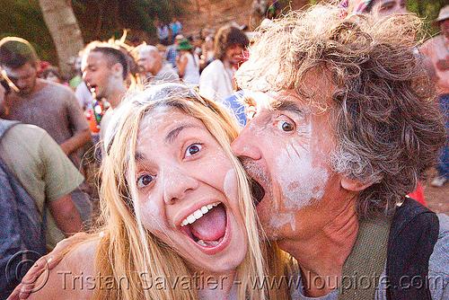 vale pergamo and me - carnaval de tilcara (argentina), andean carnival, blonde, carnaval, man, noroeste argentino, quebrada de humahuaca, self portrait, selfie, talk powder, tilcara, tristan savatier, vale pergamo, woman