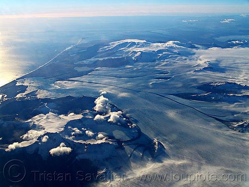 vatnajökull glacier and Jökulsárlón lake (iceland), aerial photo, breiðamerkurjökull, coast, glacial lake, glacier, ice, iceland, jokulsarlon, jökulsárlón, ocean, sea, seashore, shore, vatnajokull, vatnajökull, water