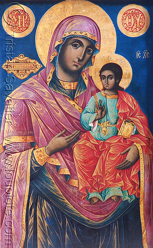 virgin mary and and infant jesus - byzantine art - rila - rilski monastery (bulgaria), byzantine, child jesus, infant jesus, jesus christ, madonna, orthodox christian, painting, rila, rilski manastir, rilski monastery, sacred art, virgin mary, българия, рилски манастир