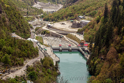 vishnu-prayag hydro project dam (india), alaknanda river, alaknanda valley, hydro-electric, industrial, infrastructure, mountains, vishnuprayag dam, vishnuprayag hydro project, water