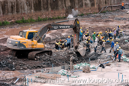 volvo EC210BLC excavator - power house site - nam theun 2 hydroelectric project (laos), at work, construction, downstream canal, heavy equipment, hydraulic, hydro-electric, machinery, nam theun 2 hydroelectric project, nam theun power company, ntpc, power house, volvo ec210, volvo ec210b excavator, volvo ec210blc excavator, volvo excavator, working