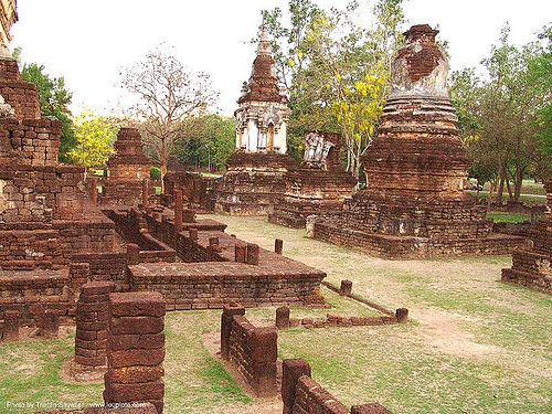 อุทยานประวัติศาสตร์ศรีสัชนาลัย - wat chedi chet thaeo - si satchanalai chaliang historical park, near sukhothai - thailand, amphoe si satchanalai, ruins, temple, wat chedi chet thaeo, ประเทศไทย, วัดเจดีย์เจ็ดแถว ศรีสัชนาลัย, อุทยานประวัติศาสตร์ศรีสัชนาลัย