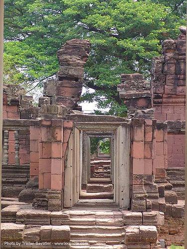 อุทยานประวัติศาสตร์พิมาย - wat phimai khmer temple - thailand, doors, hindu temple, hinduism, khmer, phimai, ruins, stone, wat phi mai, ประเทศไทย, พิมาย, อุทยานประวัติศาสตร์พิมาย