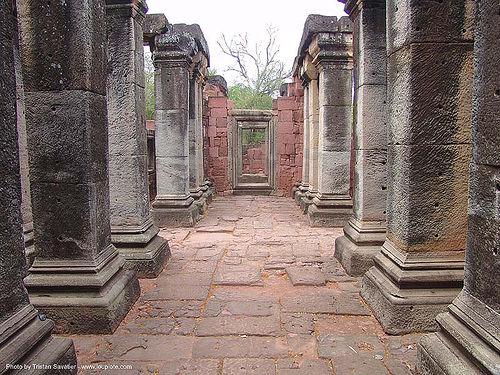 อุทยานประวัติศาสตร์พิมาย - wat phimai khmer temple - thailand, hindu temple, hinduism, khmer, perspective, phimai, ruins, vanishing point, wat phi mai, ประเทศไทย, พิมาย, อุทยานประวัติศาสตร์พิมาย
