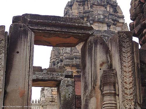 อุทยานประวัติศาสตร์พิมาย - wat phimai khmer temple - thailand, door, hindu temple, hinduism, khmer, phimai, ruins, stone, wat phi mai, ประเทศไทย, พิมาย, อุทยานประวัติศาสตร์พิมาย
