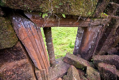 wat phu champasak (laos), column, hindu temple, hinduism, khmer temple, ruine, wat phu champasak, window