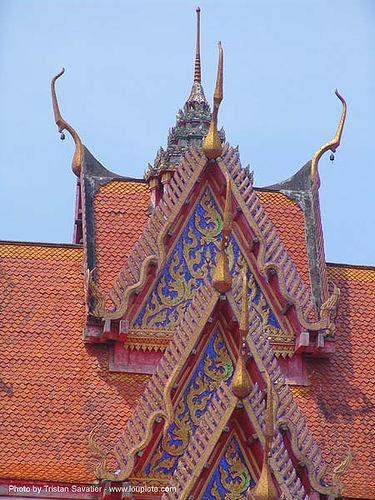 wat roof - สังขละบุรี - sangklaburi - thailand, roof, sangklaburi, temple, wat, ประเทศไทย, สังขละบุรี