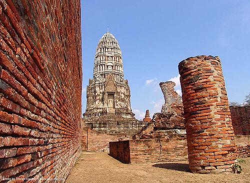 wat ruins - อุทยาน ประวัติศาสตร์ สุโขทัย - เมือง เก่า สุโขทัย - sukhothai - thailand, bricks, ruins, sukhothai, temple, wat, ประเทศไทย, อุทยาน ประวัติศาสตร์ สุโขทัย, เมือง เก่า สุโขทัย
