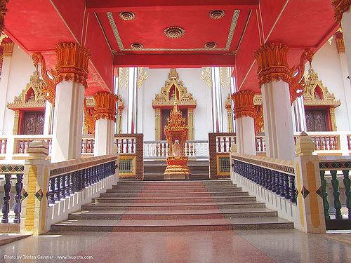 wat - สังขละบุรี - sangklaburi - thailand, sangklaburi, stairs, temple, wat, ประเทศไทย, สังขละบุรี
