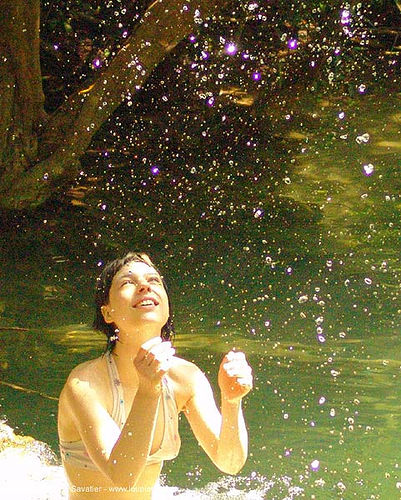 water droplets sparkling in the sun, anke rega, droplets, shining, sparkling, sun, water, woman, ประเทศไทย