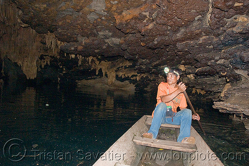 water-filled cave near pakse (laos), boat, caving, guide, head light, natural cave, pakse, spelunking, water