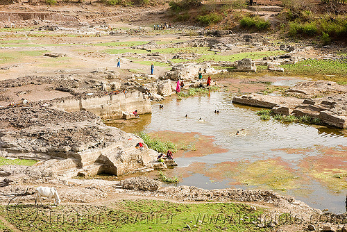 water reservoir - mandu (india), india, mandav, mandu, pond, stone quarry, swimming
