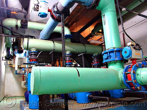 water treatment plant, factory, pipes, trespassing, water purification plant, water treatment plant