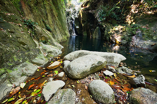 waterfall 3 - gunung gading national park (borneo), boulders, falls, rock, stones, water
