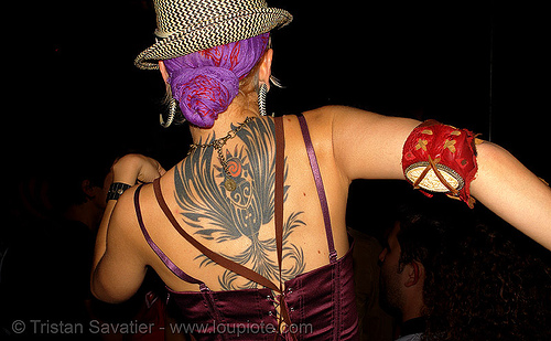 wendy darling - back tattoo (san francisco), art, backpiece, bohemian carnival, skin, tattooed, tattoos, wendy darling