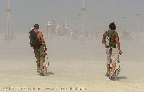 wheelman bushpigs scooters - desert riders - burning-man 2006, burning man, bushpigs, wheelman bushpig
