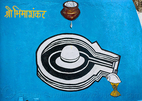 white lingam - water droplet - seashell - hindu symbolism (india), hinduism, linga, painting, shellfish, shiva lingam