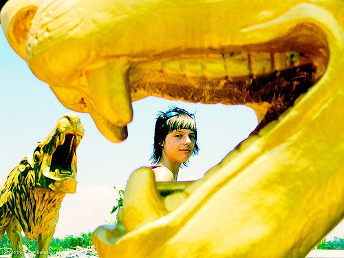 with-golden-lions - anke-rega, cross-processed, golden color, hindu, hinduism, thailand, woman