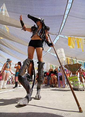 wolf beast (DJ wolfie) - burning man 2007, burning man, center camp, dj wolfie, pan, wolf beast