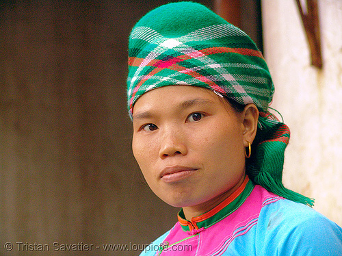 woman from bo Y tribe - vietnam, asian woman, bo y tribe, bouyei, colorful, green hmong, hill tribes, hmong tribe, indigenous, vietnam