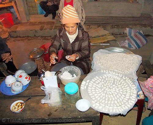 woman preparing local dessert - vietnam, asian woman, bảo lạc, cooking, hill tribes, indigenous, people, street food