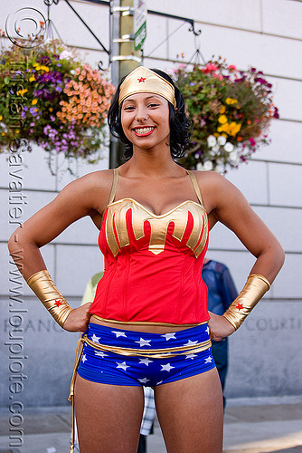wonder woman costume, costume, dorothy, gay pride festival, wonder woman