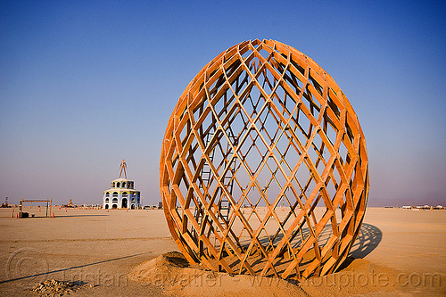 wooden egg - burning man 2012, art installation, burning man, c.o.r.e., circle of regional effigies, core project, opalessence, wooden egg