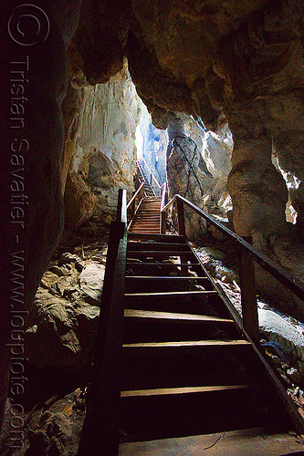 wooden stairs in natural cave, backlight, bau, caving, crooked, fairy cave, natural cave, spelunking, wooden stairs