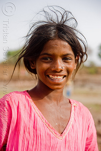 young girl - mandu (india), Mandav