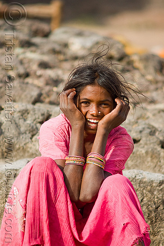 young girl - mandu (india), mandav, people