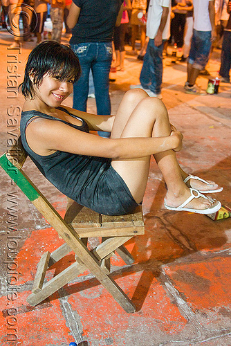 carnaval - carnival in jujuy capital (argentina), andean carnival, carnaval, chair, girl, jujuy capital, noroeste argentino, san salvador de jujuy, sitting, woman