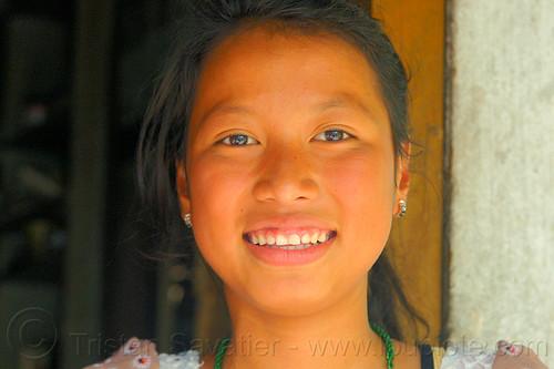 young khasi woman (india), east khasi hills, indigenous, mawlynnong, meghalaya, woman