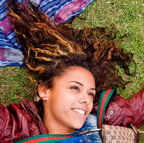 young woman from nicaragua - nicol cruz, bluegrass, golden gate park, grass, hardly, lawn, nicol cruz, nicolette, passion, strictly, woman