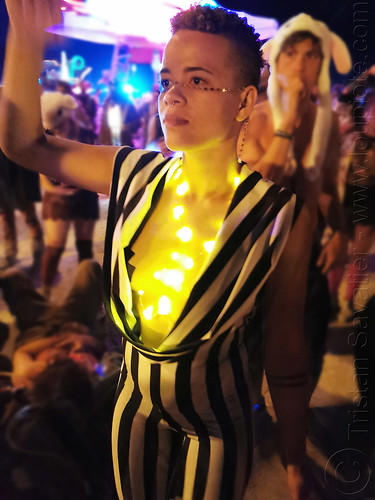 Z - burning man 2019, burning man, glowing, night, woman