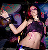 raver - purple and black - woman dancing, dancing, ignition party, lux, night, rave party, raver outfits