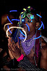 rave LED-lights, african american man, black man, glowing, ignition party, led lights, lightshow, long exposure, night, penny, rave lights, rave party, raver outfits