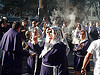 women with smoking thuribles - burning incense - catholic procession, backlight, censers, crowd, incense, lace, lord of miracles, parade, people, peruvians, procesión, procession, religion, señor de los milagros, smoke, smoking, street, thuribles, veiled, white veils, women